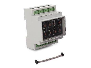 UITBREIDINGSRELAISKAART VOOR DIN-RAIL MODULE (VM208EX)