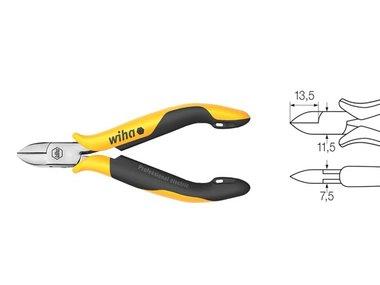 Wiha Zijkniptang Professional ESD brede, halfronde kop met facet (27448) 115 mm (WH27448)