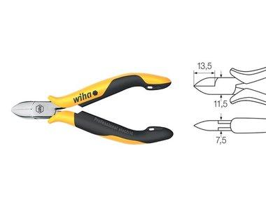 Wiha Zijkniptang Professional ESD brede, halfronde kop met kleine facet (27449) 115 mm (WH27449)