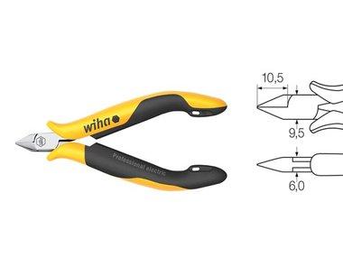 Wiha Zijkniptang Professional ESD smalle, spitse kop zonder facet (33521) 115 mm (WH33521)