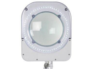 LED BUREAULAMP MET VERGROOTGLAS 5 DIOPTRIE - 6W - 64 LEDS.- WIT (VTLLAMP1WU)