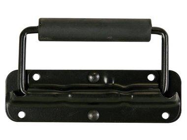 HANDVAT VOOR LUIDSPREKER, MET VEER, ZWART METAAL, 140 x 40mm (HQAC1009)