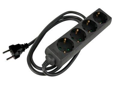 4-VOUDIGE STEKKERDOOS MET KRIMPKOUS - 3G2.5 - 5 m - SCHUKO (EB4STB25-5HQ-G)