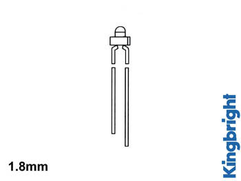 STANDAARD LED 1.8mm ROOD DIFFUUS (L-2060HD)