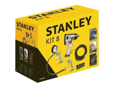 STANLEY - KIT MET PNEUMATISCHE ACCESSOIRES - 8-delig (W9045769STN)