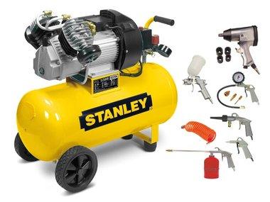 STANLEY - COMPRESSOR MET DIRECTE AANDRIJVING, V-TWIN EN SMERING - 3 pk / 50 L / 10 bar (WDV2400/10/50K2)