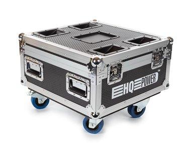 FLIGHTCASE MET 6 x HQLP10031 LED-VLOERSPOT MET ACCU (HQLP10031/6)