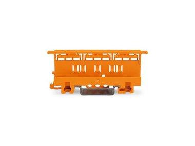 BEVESTIGINGSADAPTER - SERIE 221 - 6 mm² - VOOR MONTAGE OP TS 35/SCHROEFMONTAGE - ORANJE (WG221510)