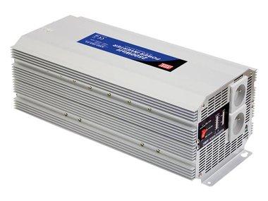 MEAN WELL - DC-AC INVERTER MET GEMODIFICEERDE SINUSGOLF - 2500 W - PENAARDE (A301-2K5-TE)