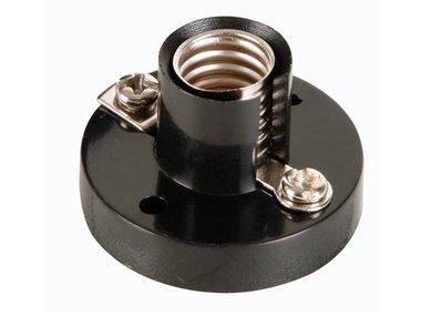 AC LAMP SOCKET, E10, BLACK (ACLS8B)
