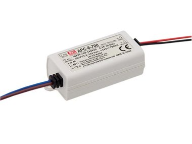 LED-DRIVER MET CONSTANTE STROOM - 1 UITGANG - 700 mA - 7.7 W (APC-8-700)