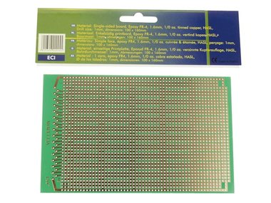EUROCARD IC PATROON - 100x160mm - FR4 (25st./doos) (B/ECI)