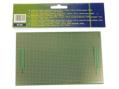 EUROCARD SUBD25/CENTR - 100x160mm - FR4 (25st./doos) (B/ECSD)