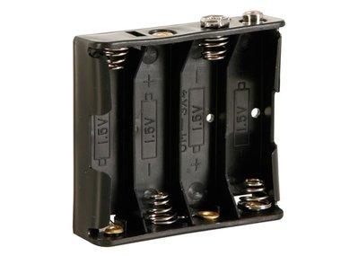 BATTERIJHOUDER VOOR 4 x AA-CEL (VOOR BATTERIJCLIPS) (BH341B)