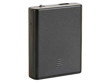 BATTERIJHOUDER VOOR 4 x AA-BATTERIJEN (MET USB CONNECTOR) + SCHAKELAAR (BH341USB)