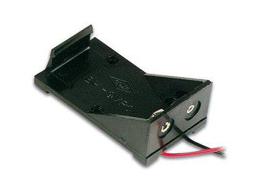 BATTERIJHOUDER VOOR 1 x 9V-CEL (MET DRADEN) (BH9V)