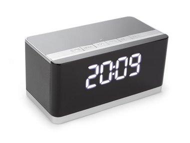 DRAADLOZE MINI HIFI-LUIDSPREKER MET KLOK - AUX + FM + USB + MICRO-SD (BTSP7)