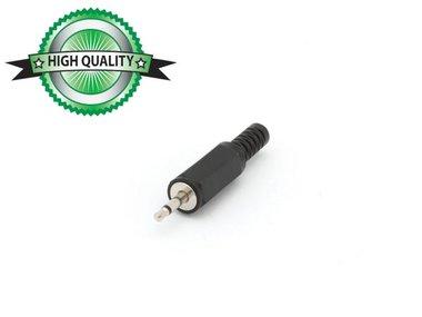 MANNELIJKE 2.5mm MONO JACK - PLASTIC ZWART (CA001H)