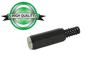 VROUWELIJKE 2.5mm STEREO JACK - PLASTIC ZWART (CA008)