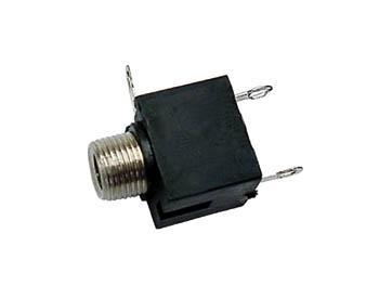 VROUWELIJKE 3.5mm MONO JACK - CHASSISMONTAGE ZWART (CA016)
