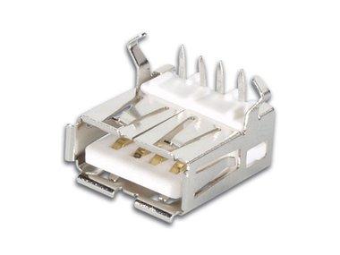 USB A VROUWELIJK, ENKELVOUDIGE CONNECTOR 90°, VOOR PCB (CC088)