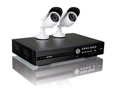 FULL HD-BEWAKINGSSYSTEEM - 4KANALEN - 2IR-CAMERA'S - PUSH VIDEO & STATUS - IVS (CCTVPROMT1)