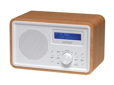 DAB-35 - DAB+/FM-RADIO - HOUTEN BEHUIZING (DV-10503)
