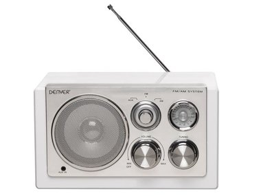 TR-61WHITE - RADIO MET ELEGANT DESIGN - WIT (DV-10403)
