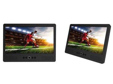 MTW-1085TWIN - DRAAGBARE DVD-SPELER MET 10.1 LCD-SCHERM + EXTRA SCHERM (DV-20202)