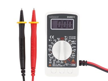 DIGITAL MULTIMETER - CAT II 500 V / CAT III 300 V - 1999 COUNTS (DVM811)