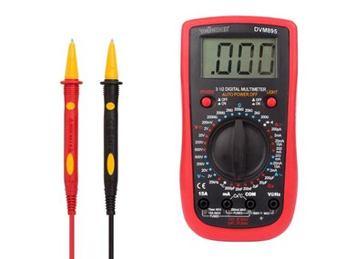 DIGITALE MULTIMETER - CAT. III 600 V / CAT IV 300 V - 1999 COUNTS (DVM895)