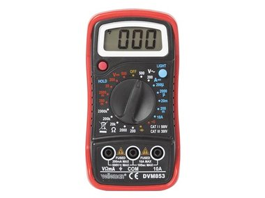 DIGITALE MULTIMETER - CAT. III 300 V / CAT. II 500 V - 1999 COUNTS - DATA HOLD / ACHTERGRONDVERLICHTING / ZOEMER (DVM853)