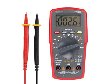 DIGITALE MULTIMETER - CAT. II 500 V / CAT. III 300 V - 10 A -  AUTOMATISCH BEREIK - 4000 COUNTS (DVM855)