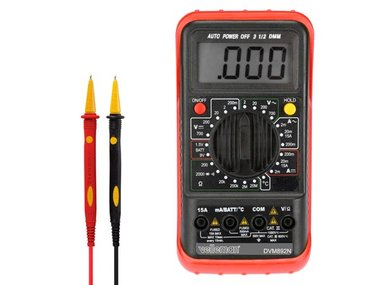 DIGITALE MULTIMETER - 24 BEREIKEN / CAT II 700 V - CAT III 600 V / DATA HOLD / AUTOMATISCHE UITSCHAKELING / TEMPERATUUR / 15 A AC & DC (DVM892N)