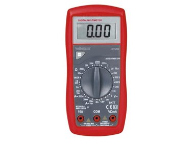 DIGITALE MULTIMETER - CAT. III 600 V - 10 A - DATA-HOLD-FUNCTIE / DIODETEST / BATTERIJTEST / ZOEMER (DVM94)
