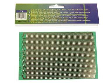 EUROCARD VOLLE-LIJN PATROON - 100x160mm - FR4 (1st./bl.) (ECL)