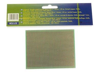 EUROCARD VOLLE-LIJN PATROON - 100x80mm - FR4 (1st./bl.) (ECL1/2)