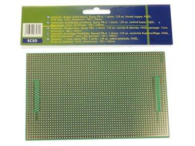 EUROCARD MET CENTRONIX/SUB-D PATROON  - 100x160mm - FR4 (1st./bl.) (ECSD)