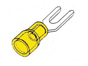 GELE KABELSCHOEN 6.4mm (FYY6)