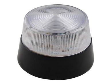LED-KNIPPERLICHT - TRANSPARANT - 12 VDC -  ø 77 mm (HAA40WN)