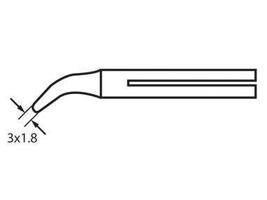 SOLDEERPUNT MET LANGE LEVENSDUUR 32N/55N, 60W: CT-25D (3 x 1.8mm) (JC0550707)