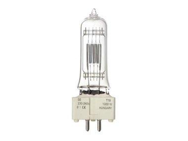 HALOGEN LAMP GENERAL ELECTRIC 1000W / 230-240V,  BI-PLANE (GE 88457) (LAMP1000T/GE)