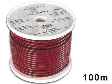 CCA LUIDSPREKERKABEL - 2 x 1.00mm² - ROOD/ZWART - ROL: 100m (LOW2100RB/C)