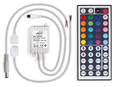 RGB LED-CONTROLLER MET AFSTANDSBEDIENING (44 KNOPPEN) (LEDC07)