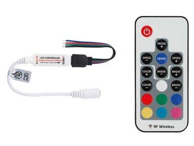 MINI RGB LED-CONTROLLER - MET RF-AFSTANDSBEDIENING (LEDC27)