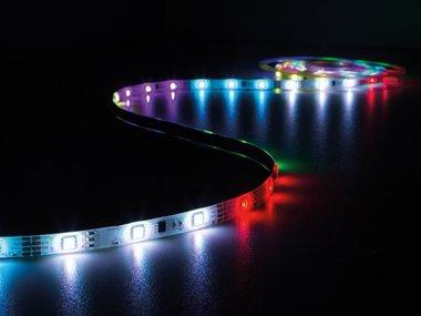 KIT MET DIGITAAL GEANIMEERDE LED-STRIP, CONTROLLER EN VOEDING - RGB - 150 LEDs - 5 m - 12 VDC (LEDS10DRGB)