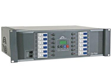 12-KANAALS MODULAIR DMX DIMMER PACK, 20A/KANAAL, SCHROEFCONNECTOREN, UITGANG (LPTDX1227)