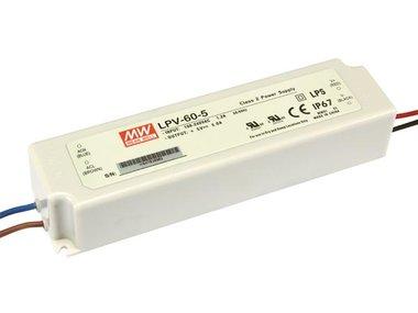 SCHAKELENDE VOEDING - 1 UITGANG - 40 W - 5 V (LPV-60-5)