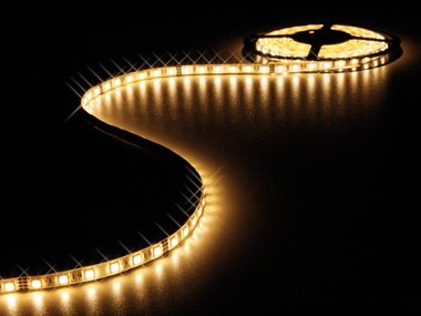 FLEXIBELE LED STRIP - WARM WIT - 300 LEDs - 5m - 24V (LS24N230WWN)