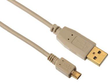 USB 2.0 A-PLUG NAAR MICRO-USB PLUG / KOPER / BASIS / 2.5 m / VERGULD / M-M (PAC610B025N)
